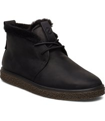 crepetray w shoes boots ankle boots ankle boots flat heel svart ecco