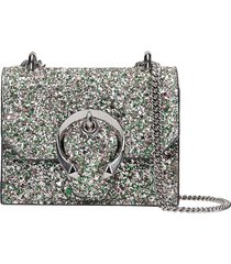 jimmy choo mini paris shoulder bag in green patent leather