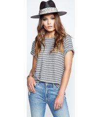 joy raglan tee - xs grey stripes