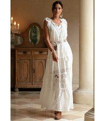 miss june moonshine dress white