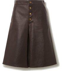 embellished leather shorts