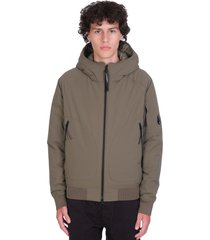 c.p. company casual jacket in green polyester