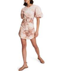 a.l.c. jess tie dye cotton dress, size 6 in multi at nordstrom