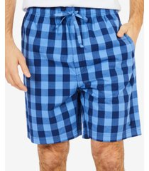 nautica men's buffalo plaid pajama shorts
