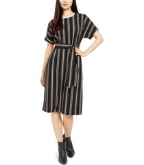 alfani petite striped tie-waist dress, created for macy's