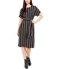 alfani petite striped tie-waist dress, created for macy's