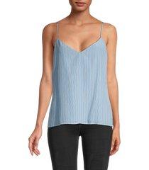 l'agence women's jane spaghetti-strap silk top - sky blue - size l