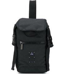 mcq multi-pocket shoulder backpack - black