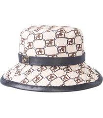 alberta ferretti cap with logo print