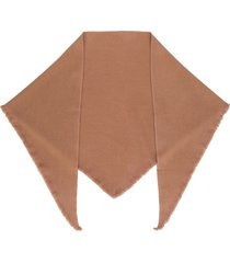 isabel marant frayed cashmere shawl - brown