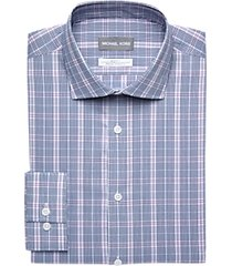 michael kors navy & purple plaid slim fit dress shirt