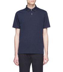 pima cotton blend polo shirt
