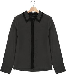 blusa gris-negra vero moda