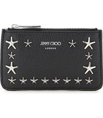 jimmy choo nancy card holder pouch star studs