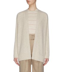 ribbed back wool cashmere cardigan