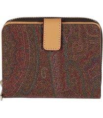 etro multicolor canvas wallet