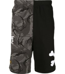 aape by *a bathing ape® camouflage track shorts - grey