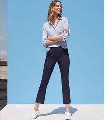 loft curvy high waist kick crop pants