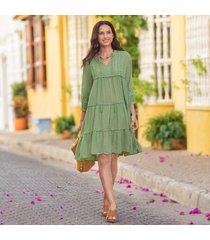 sundance catalog women's desert breeze dress in celadon xs