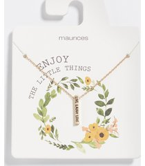 maurices womens dainty live laugh love bar necklace