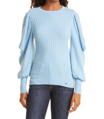 women's ted baker london extreme sleeve sweater, size 3 - blue