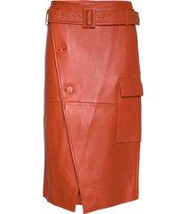 2nd sway knälång kjol orange 2ndday