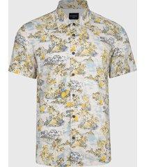 camisa d/struct mc hawaiian multicolor - calce regular