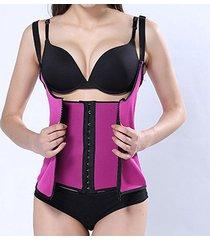 corsetto in gomma neoprene per controllo addome con cerniera anteriore