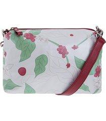 bolso bandolera rojo - estampado bags n' ballerinas