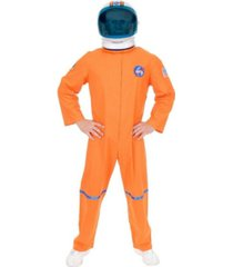 buyseasons men's orange astronaut suit plus adult costume