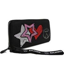 billetera negra buda estrellas