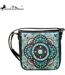 montana west concho & floral embroidered collection crossbody handbag ~4 colors