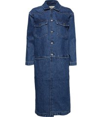 lmc western trench lmc blue mo jurk knielengte blauw levi's made & crafted