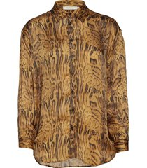 ocelot shirt blouse lange mouwen geel rabens sal r