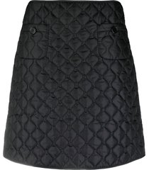 aspesi quilted padded-effect mini skirt - black