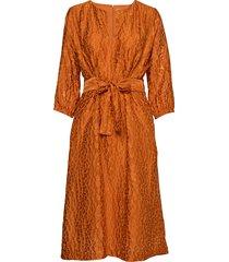 hudson dress jurk knielengte oranje inwear