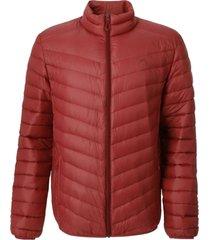 chaqueta pluma eboni stripe rojo doite