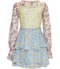 blumarine silk patchwork dress