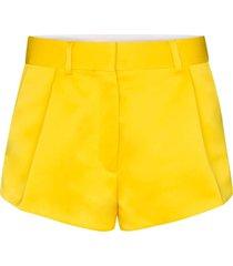 heron preston tailored mid-rise shorts - yellow