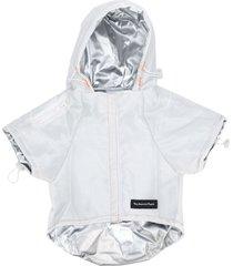 heron preston nasa print hoodie - silver