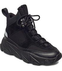 fire sneaker boots höga sneakers svart svea