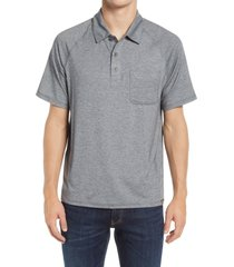 l.l.bean regular fit everyday sunsmart short sleeve polo shirt, size large in gray heather at nordstrom