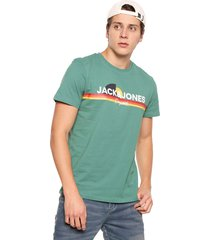 camiseta azul-multicolor jack & jones