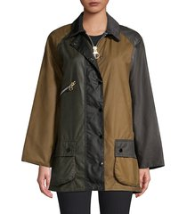 women's barbour x alexa chung oversized patch jacket - patchwork - size 6