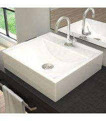 cuba para banheiro quadrada branco q39 - compace