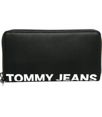billetera negra tommy hilfiger