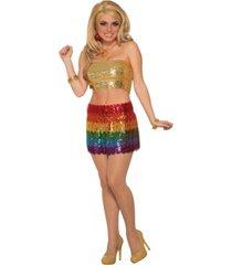 buyseason women's rainbow sequin skirt costume