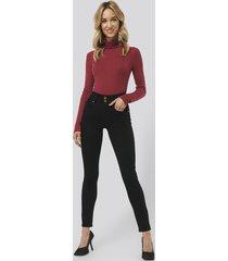 monica geuze x na-kd high waist slim fit jeans - black
