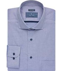 joseph abboud indigo blue dress shirt blue stripe