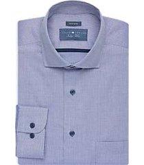 joseph abboud indigo blue dress shirt blue stripe